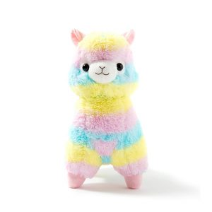 Alpaca Stuffed Animal - Rainbow Llama Rainbow Alpaca Soft Plush Toy