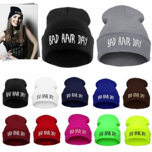 Bad Hair Day Beanie - Punk Harajuku Bad Hair Day Beanie Hipster Hip Hop Streetwear Beanie