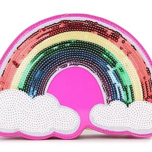 Rainbow Bag - Kawaii Cloud And Rainbow Bag Harajuku Rainbow Sequin Festival Bag