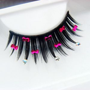 Bow False Eyelashes - Harajuku Rhinestone Bow Eyelashes False Fake Lashes