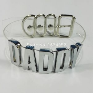 Daddy Choker - Womens Daddy Choker Goth Harajuku Transparent Choker Punk Clear Choker Daddy Collar