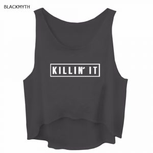 Killin It Tank Top - Womens Killin It Tank Top Streetwear Killin It Crop Top