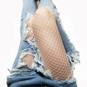 White Fishnet Tights - Festival High Waist White Fishnets Harajuku White Fishnet Stockings Tights