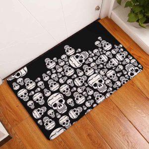 Skull Doormat - Gothic Waterproof Skull Doormat Skull Punk Bath Mat Stair Mat