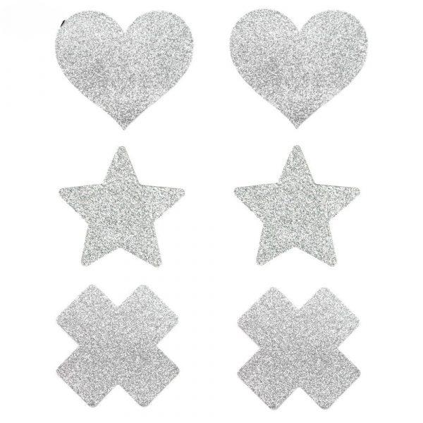 Glitter Pasties - Womens Rave Glitter Pasties Glitter Nipple Pasties Festival Nipple Covers Glitter Breast Petals