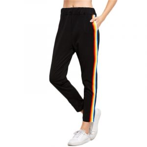 Rainbow Striped Pants - Womens Harajuku Rainbow Stripe Pants Streetwear Rainbow Pants