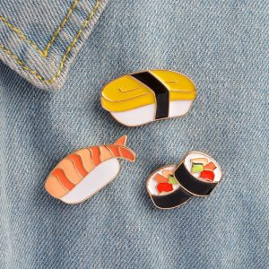Sushi Pin - Harajuku Sushi Pin Cartoon Enamel Pin Japanese Pin Sushi Brooch Sushi Badge Jacket Brooch