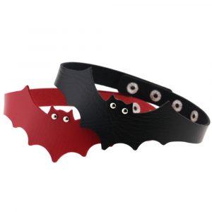 Bat Choker - Womens Goth Bat Necklace Gothic Bat Choker Collar