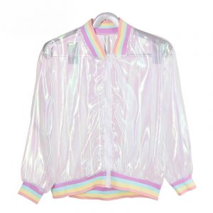 Iridescent Jacket - Transparent Iridescent Jacket Rainbow Clear Jacket
