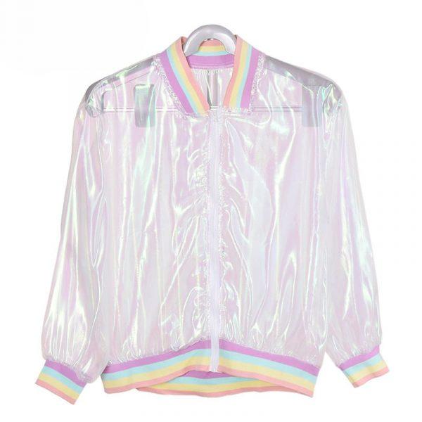 Iridescent Jacket - Transparent Iridescent Jacket Rainbow Clear Jacket