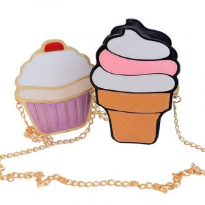 Cupcake Purse - Womens Kawaii Cupcake Handbag Harajuku Ice Cream Bag Novelty Crossbody Bag