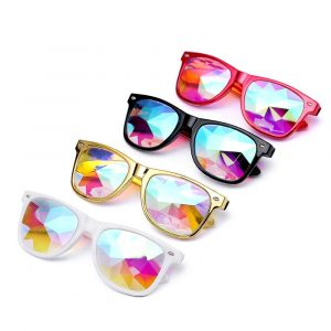 Diffraction Glasses - Rave Festival Diffraction Glasses 3d Rainbow Sunglasses Kaleidoscope Glasses