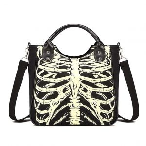 Skeleton Handbag - Womens Gothic Skeleton Handbag Punk Skeleton Bones Bag