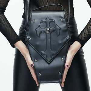 Coffin Bag - Womens Gothic Coffin Bag Coffin Purse Handbag Rock Bag Vampire Bag