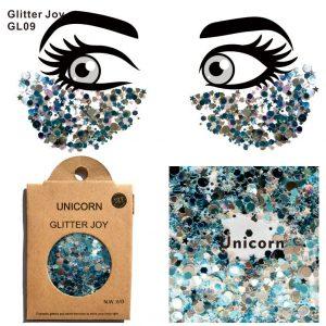 Blue Face Glitter - Festival Blue Face Glitter Light Blue Glitter Unicorn Glitter Rave Chunky Glitter
