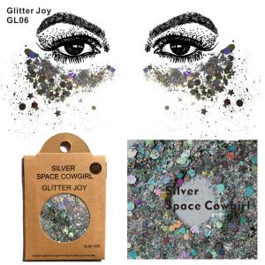 Silver Holo Glitter - Chunky Silver Glitter Rave Face Glitter Body Glitter Sequin Festival Makeup