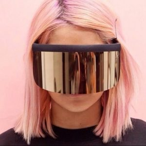 Shield Sunglasses - Oversized Festival Shield Sunglasses Mask Visor Sunglasses Rave Shades