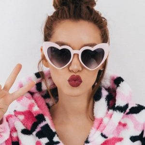 Heart Sunglasses - Hurajuku Heart Sunglasses Festival Love Heart Shades Retro Glasses