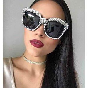 Rhinestone Sunglasses - Womens Festival Rhinestone Sunglasses Oversize Sunglasses Luxury Crystal Sunglasses Rhinestone Shades