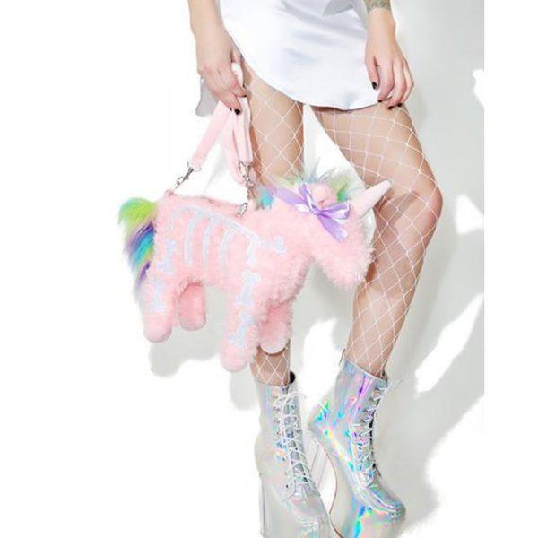 Unicorn Bag - Pink Unicorn Bag Soft Fluffy Unicorn Handbag