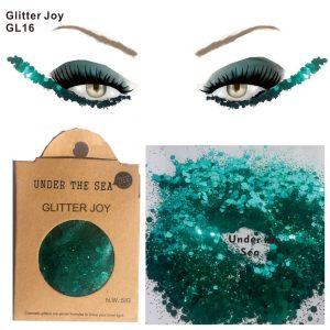 Aqua Glitter - Festival Green Turquoise Glitter Mermaid Chunky Face Glitter
