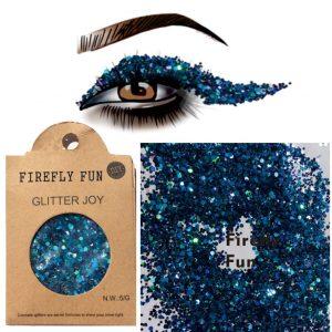 Dark Blue Glitter - Rave Dark Blue Glitter Festival Body Glitter Eye Glitter Makeup Mixed Glitter