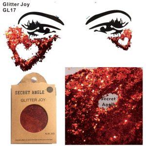 Red Chunky Glitter - Red Glitter Rave Face Glitter Festival Chunky Body Glitter