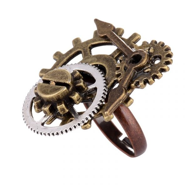 Steampunk Ring - Steampunk Ring Gears Burning Man Ring