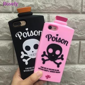 Poison Phone Case - Witch Poison Phone Case 3d Skull Phone Case Silicon Soft Case