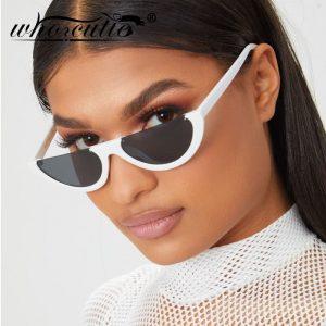 Half Frame Sunglasses - Womens Retro Festival Half Frame Sunglasses Half Moon Sunglasses Flat Top Half Rim Sunglasses