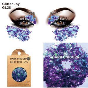 Dark Purple Glitter - Festival Dark Purple Glitter Face Hair Root Glitter Purple Body Glitter