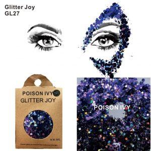 Violet Glitter - Womens Festival Violet Glitter Dark Purple Glitter Chunky Face Glitter