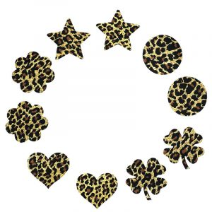 Leopard Pasties - Womens Festival Leopard Pasties Leopard Print Disposable Nipple Covers Breast Stickers Nipple Petals