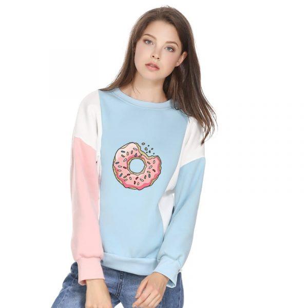 Donut Sweater - Womens Harajuku Kawaii Donut Sweater Cute Pastel Funny Doughnut Jumper