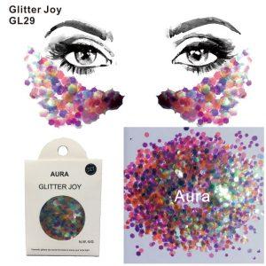 Multi Color Glitter - Transparent Multicolor Glitter Chunky Festival Face Glitter