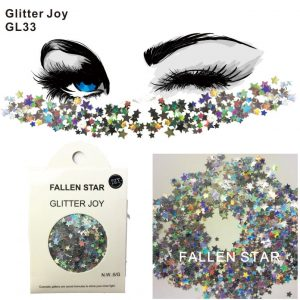 Silver Star Glitter - Festival Holographic Star Glitter Silver Face Glitter Rave Body Glitter Face Sequins