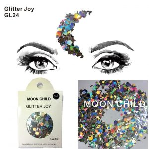 Holographic Silver Glitter - Chunky Holographic Silver Glitter Festival Face Glitter Star Moon Glitter