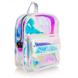 Iridescent Backpack - Womens Iridescent Backpack Harajuku Mini Backpack Kawaii Transparent Backpack Holographic Backpack Clear Backpack