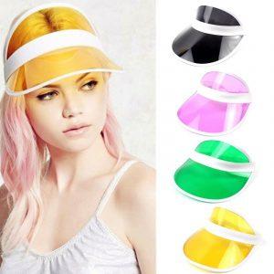 Plastic Visor - Womens Festival Plastic Visor Hat Transparent Visor Hat Clear Visor Hat