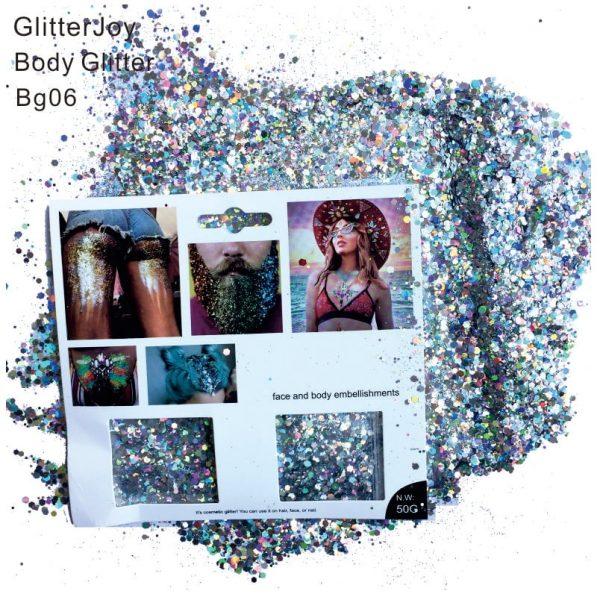 Holographic Cosmetic Glitter - Holo Glitter Silver Holographic Glitter Festival Beard Glitter